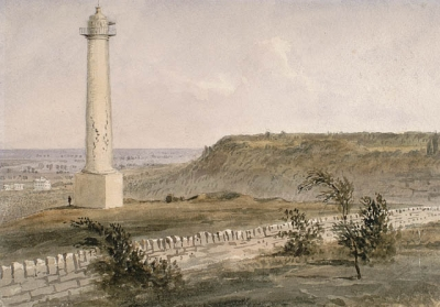 Brock's Monument, before 1840 Damage