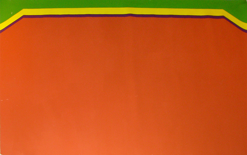 Ray Mead, Field, 1975, acrylic on canvas, 126.37 x 200.66 cm.