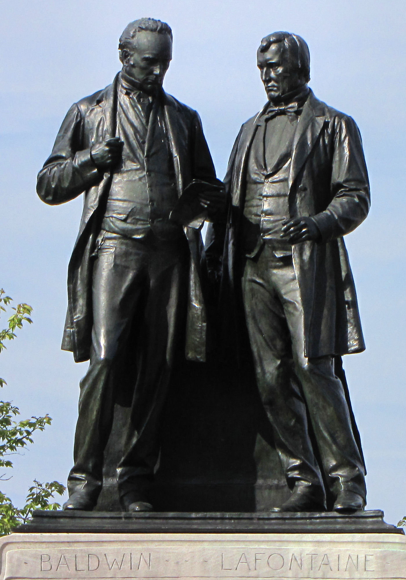 Statue of Robert Baldwin and Louis-Hippolyte Lafontaine