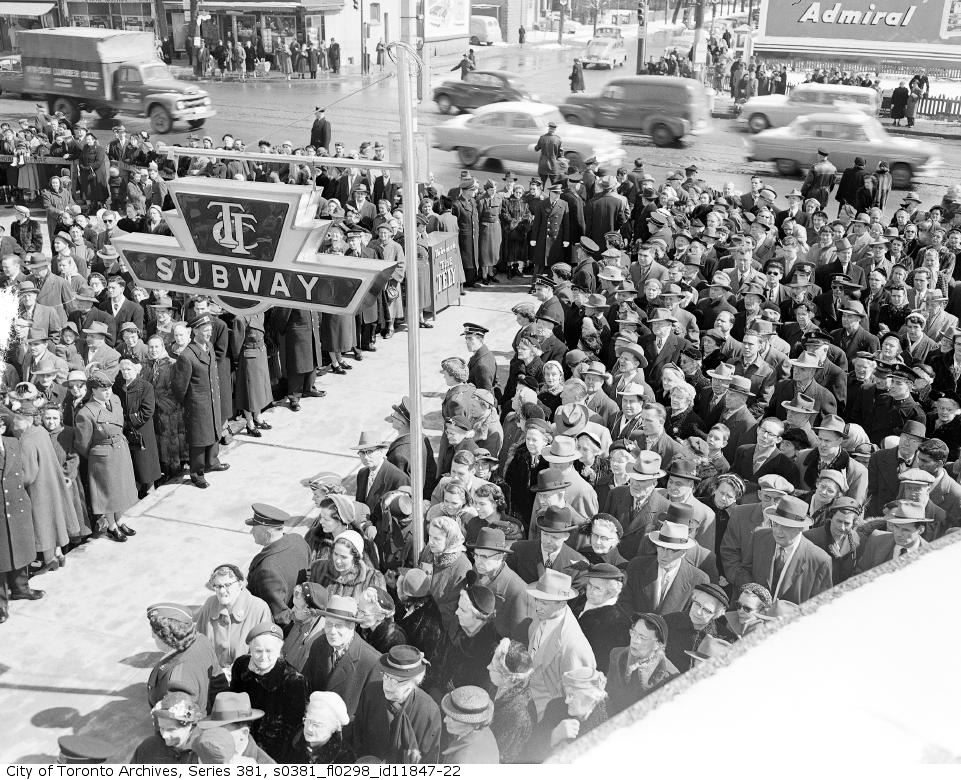 Official Opening of Toronto Subway, 30 March 1954
