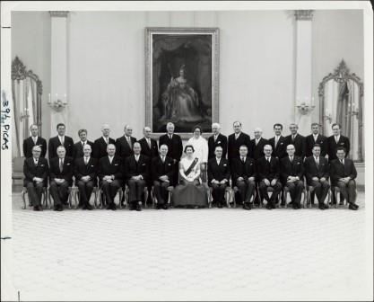 Queen Elizabeth II with Cabinet, 1967