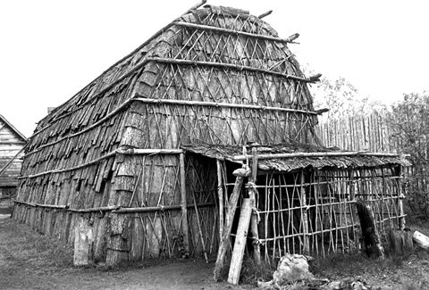 Reconstructed Longhouse at Ste-Marie Among the Hurons