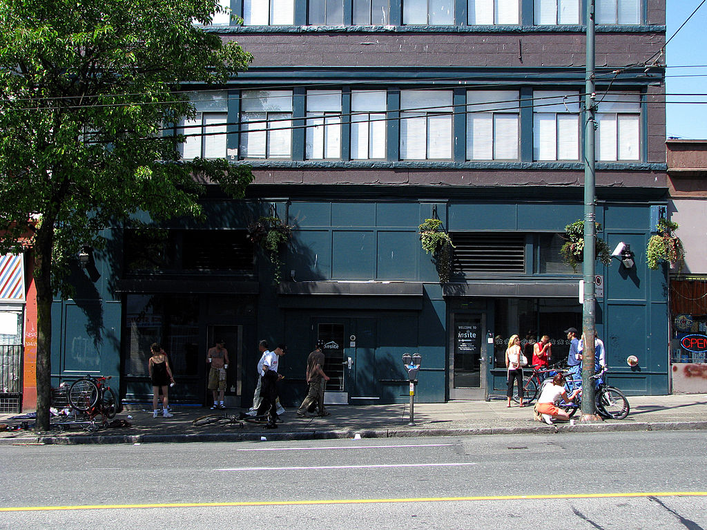 Insite, the safe-injection site for drug addicts in Vancouver, photographed in 2008.