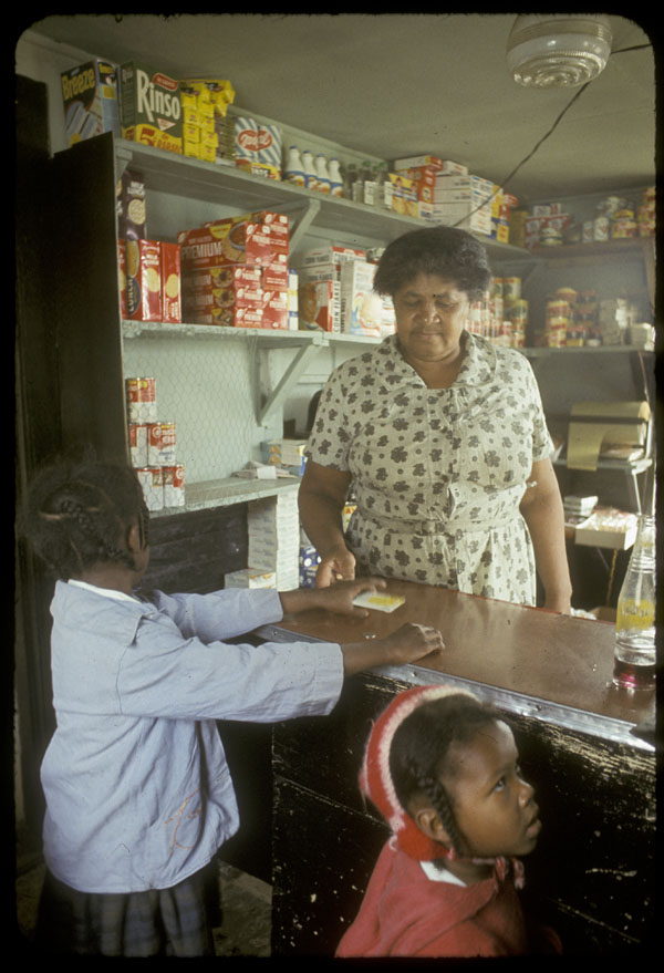 Matilda Newman in her store in Africville, date unknown.