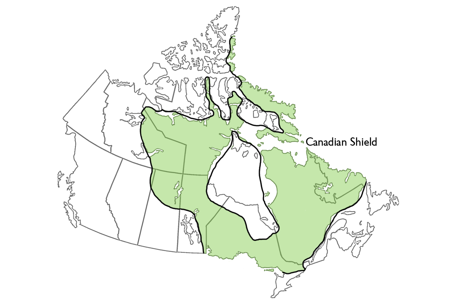Physiographic Regions The Canadian Encyclopedia - Physical features map of canada
