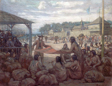 The Fur Traders at Montréal