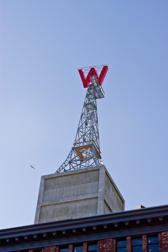 "Woodward's ""W"" sign"