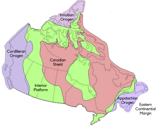 Geological Regions The Canadian Encyclopedia