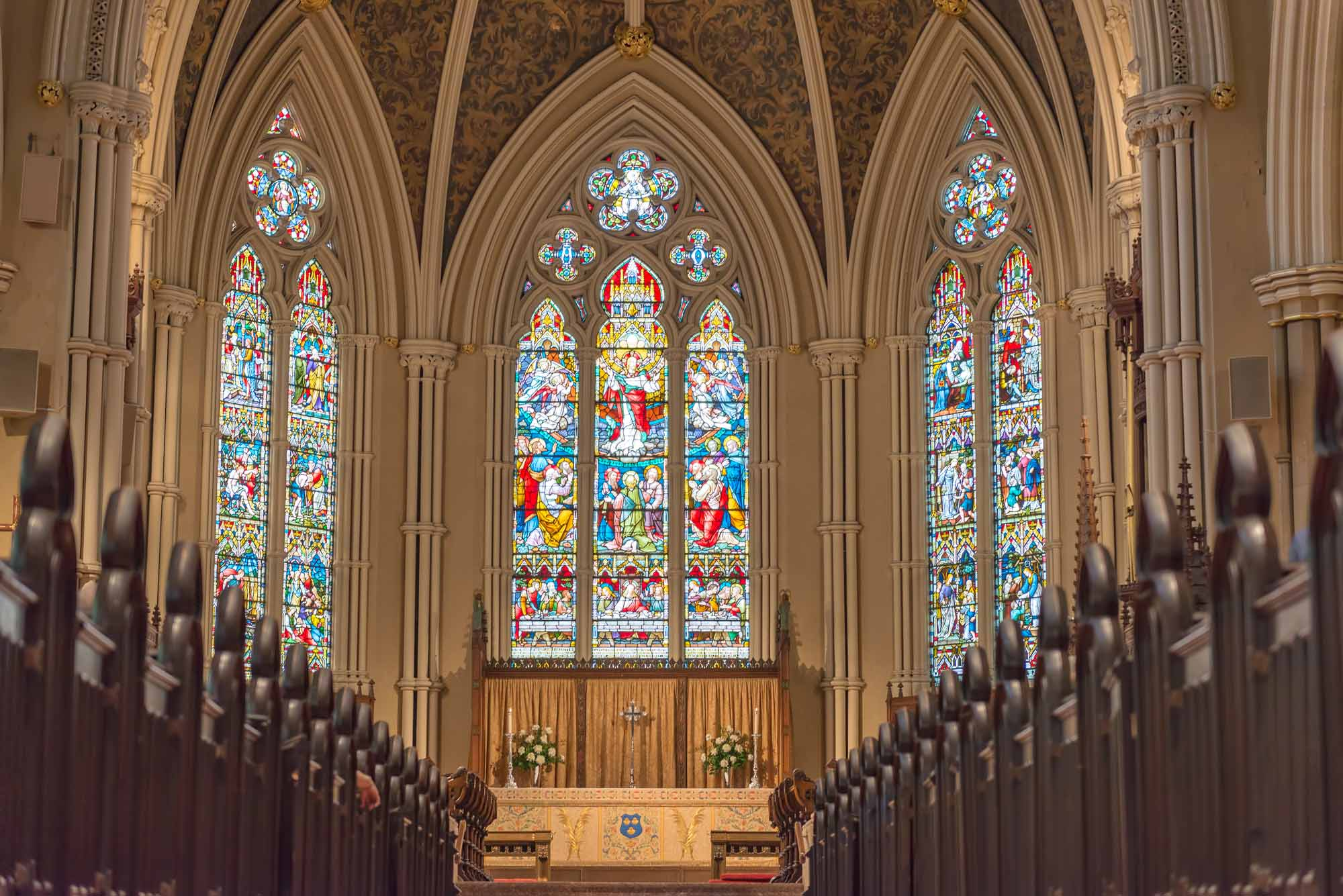 Inside St. James Cathedral in Toronto.