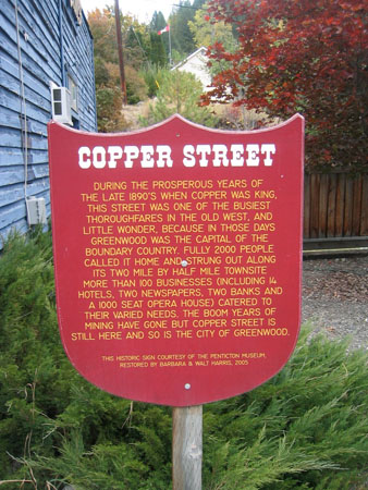Copper Street Sign