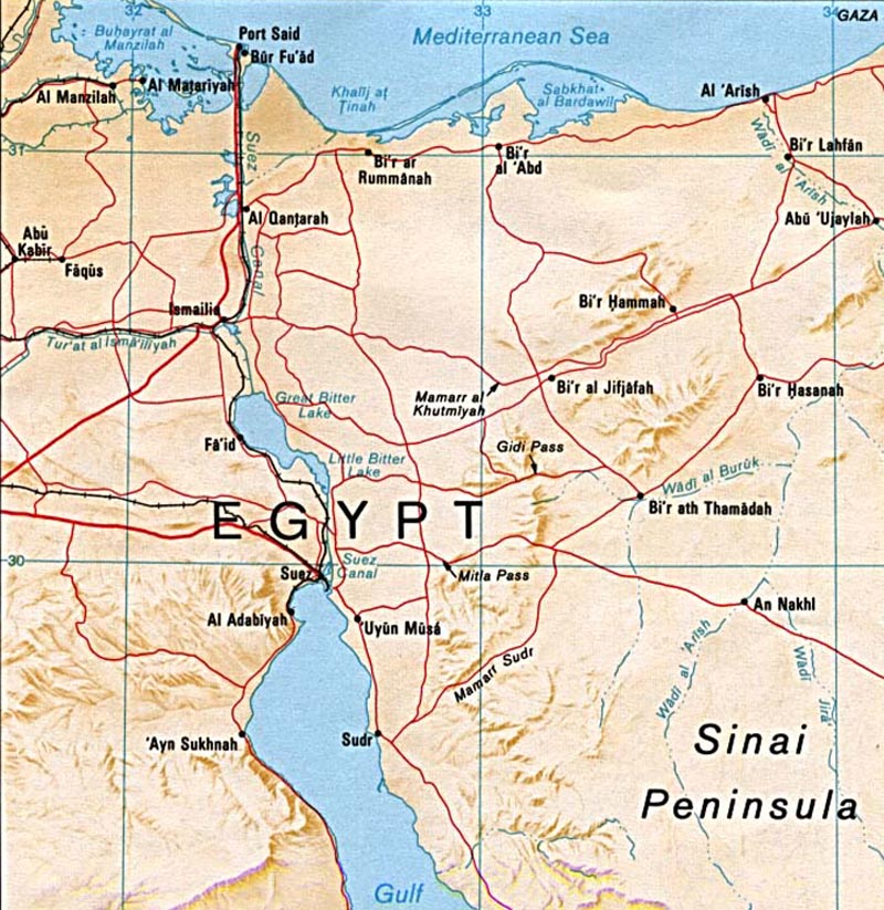 Suez crisis the canadian encyclopedia a map of the suez canal gumiabroncs Image collections
