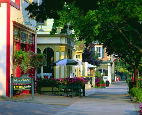 Niagara-on-the-Lake, paysage de rue de
