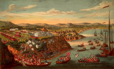 A view of the taking of Quebec, 13 September 1759.