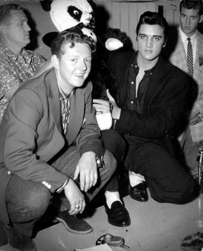 Red Robinson and Elvis Presley, 1957.
