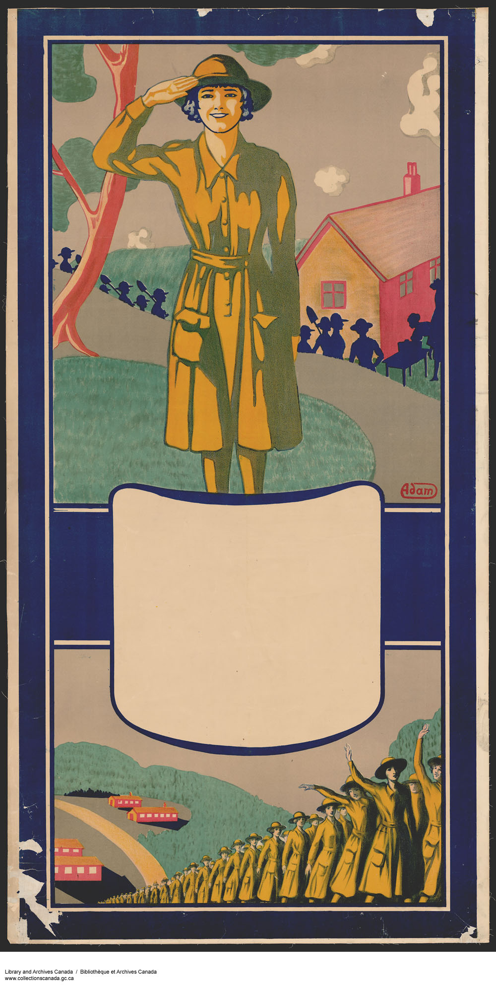 WWI recruitment poster for women