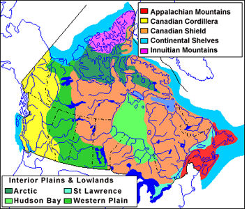 Map Of Canada Mountains.Mountain Range The Canadian Encyclopedia