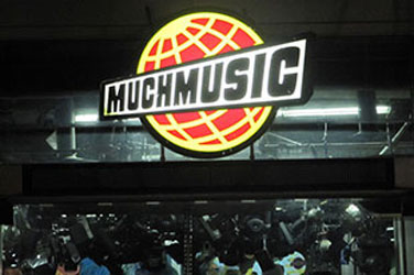 MuchMusic Logo at Night