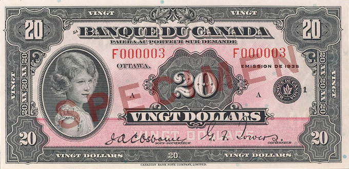 Front of the  Note (1935\u201337)