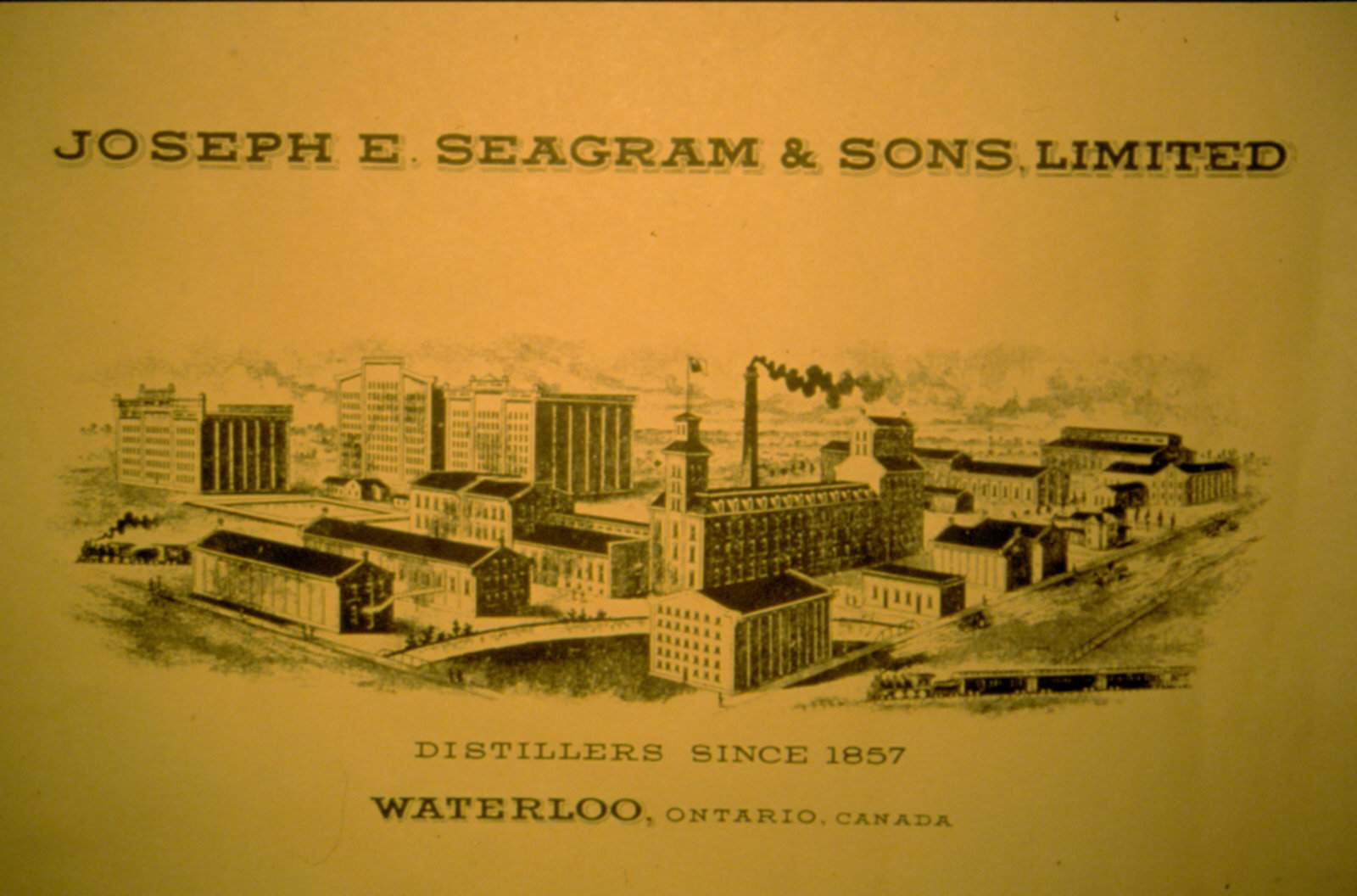 Publicité de Joseph E. Seagram and Sons Limited