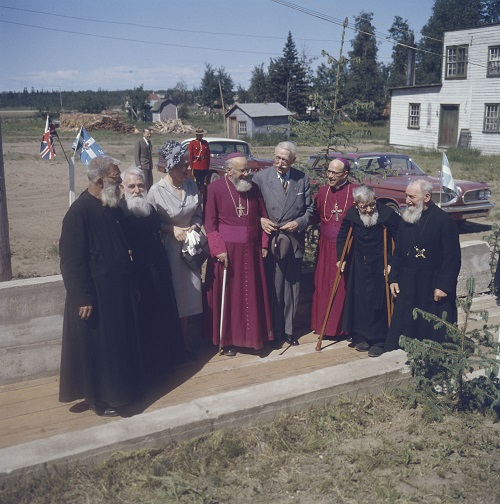 Governor General and Madame Vanier with Catholic Clergy