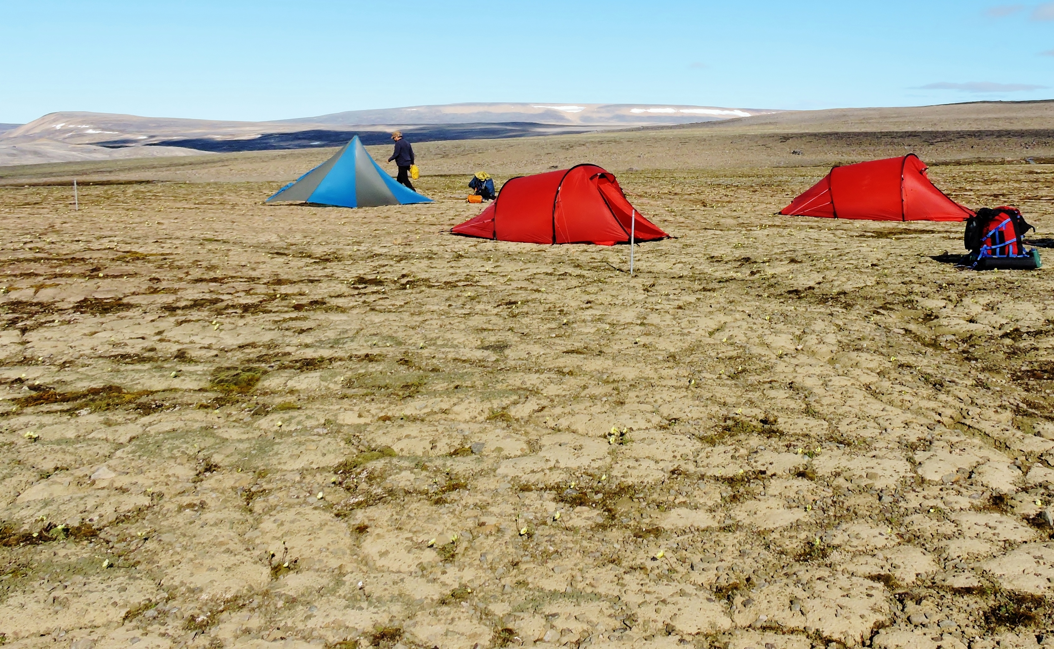 Camp in Qausuittuq National Park