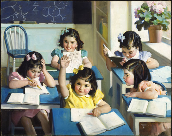 Dionne Quintuplets - School Days, 1938