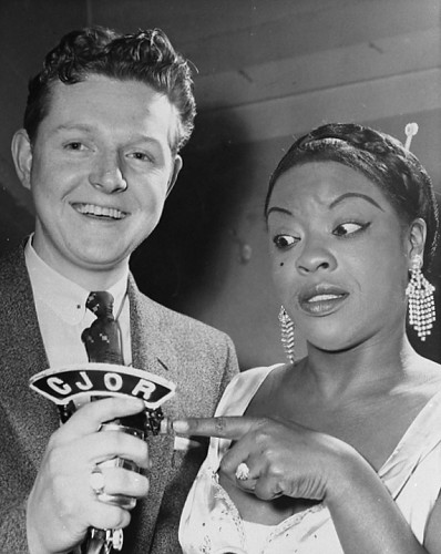 Red Robinson with LaVern Baker, 1956.