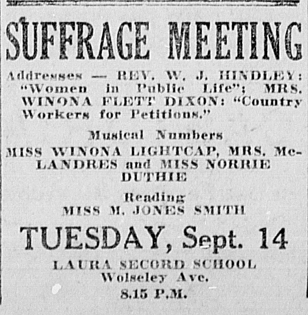 Suffrage Meeting