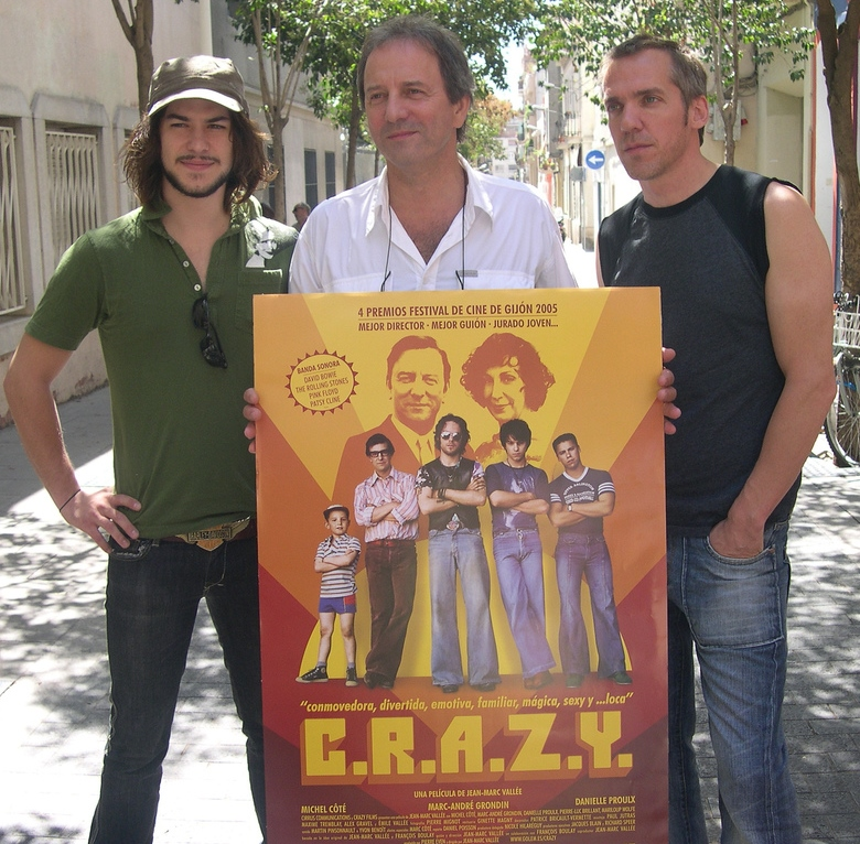 Marc-André Grondin, Michel Côté and Jean-Marc Vallée