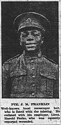 Newspaper Photo of Private J.M. Franklin
