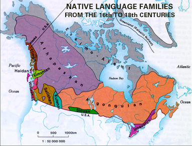 Indigenous Languages in Canada | The Canadian Encyclopedia on aboriginal australian languages map, ethnic group map, world language families map, european language map,