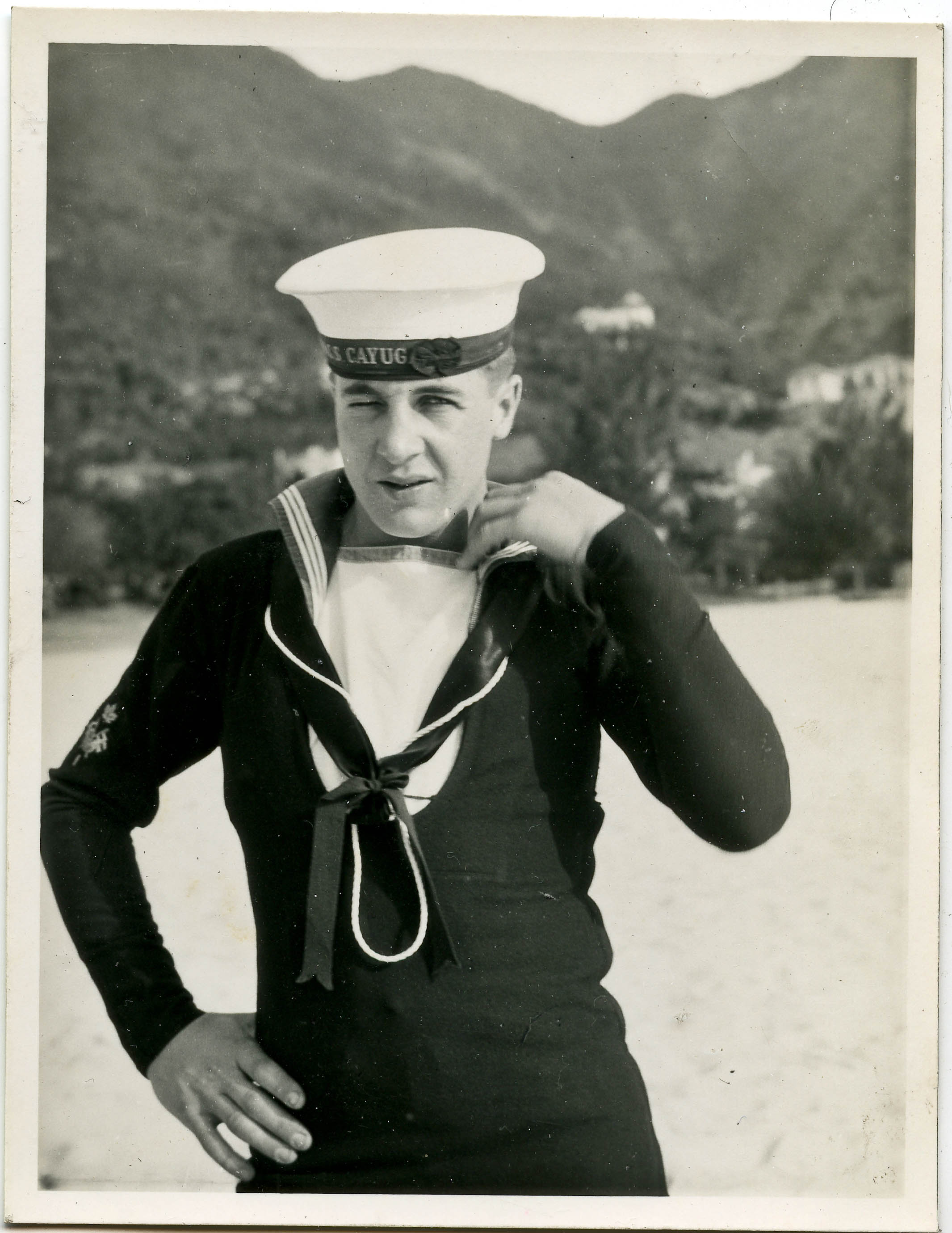 Sailor Leonard Wells of HMCS Cayuga in Korea, 1950-1952.