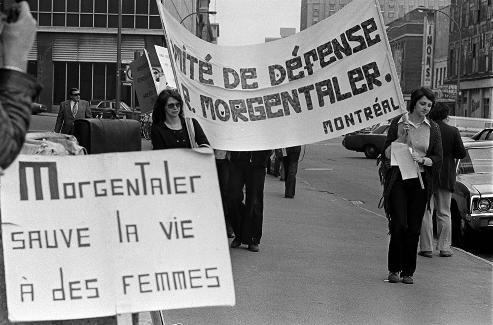 Demonstration after Henry Morgentaler