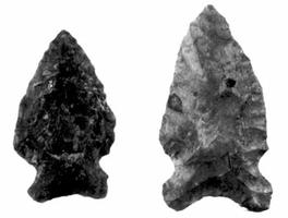 Wanipigow Lake Site, Fig. 2, projectile points