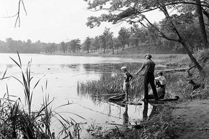 Fishing in Grenadier Pond