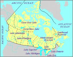 Lakes Of Canada Map.Lake Winnipeg The Canadian Encyclopedia