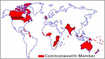 Commonwealth, carte du