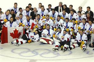 On 24 Feb 2002 Canada s men s hockey team won the Olympic gold medal at the  Salt Lake Olympics on the 50th anniversary of the Edmonton Mercurys  win at  Oslo ... f1be5e864
