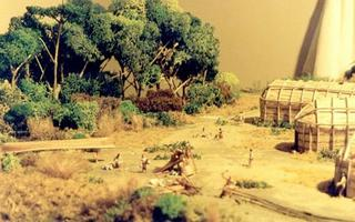 Model of Mandeville Iroquoian village