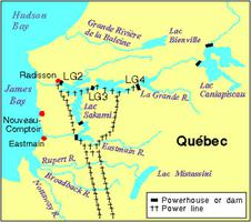 Map Of Canada James Bay.James Bay Project The Canadian Encyclopedia