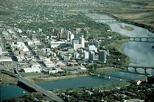 Saskatoon, photo aérienne de