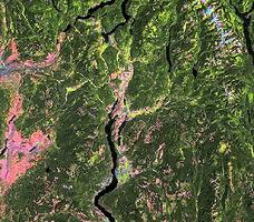 Okanagan Valley, Satellite Image