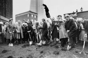 Sod-turning ceremony at the site of the SkyDome, c 1986