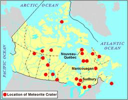 Meteorite Craters, Map