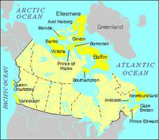 Islands of Canada, Map