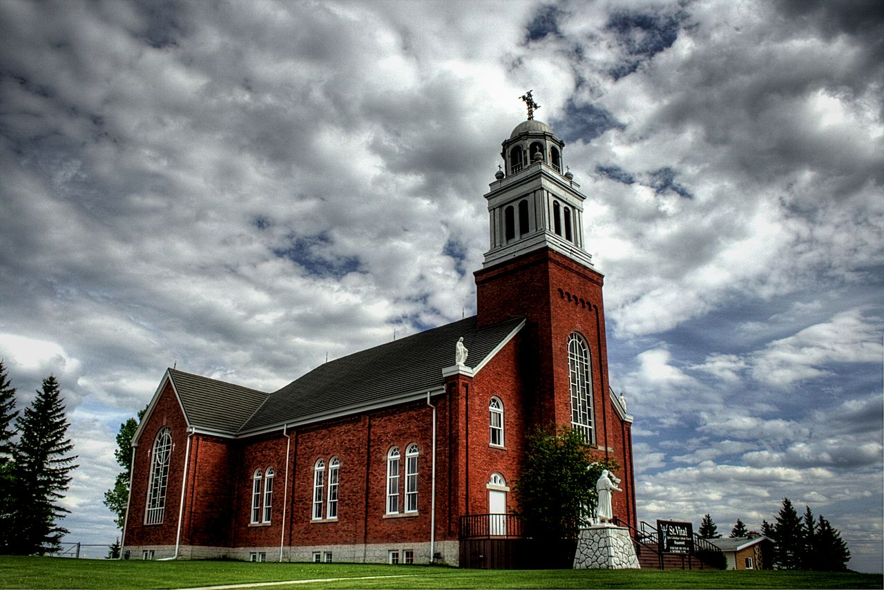 Église catholique Saint-Vital à Beaumont, en Alberta