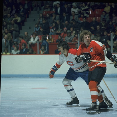 Guy Lapointe and Bobby Clarke