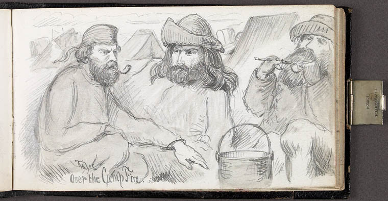 Sketch: Tales Over the Camp Fire, 1862