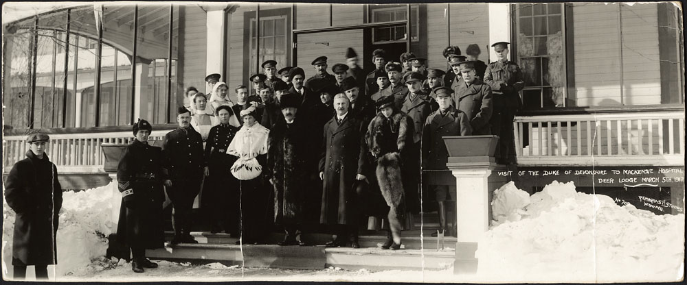 Duke and Duchess of Devonshire at the Deer Lodge Military Hospital
