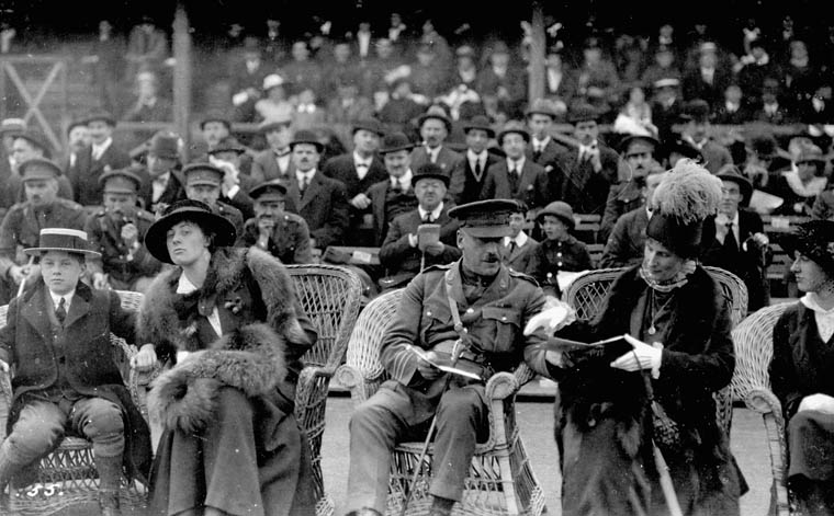 Spectators at Baseball Game, 1916